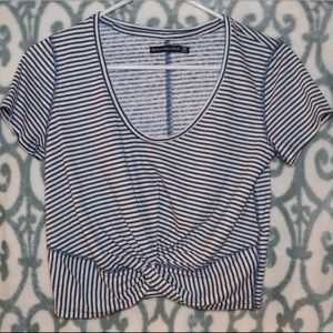 Abercrombie Blue and White striped shirt